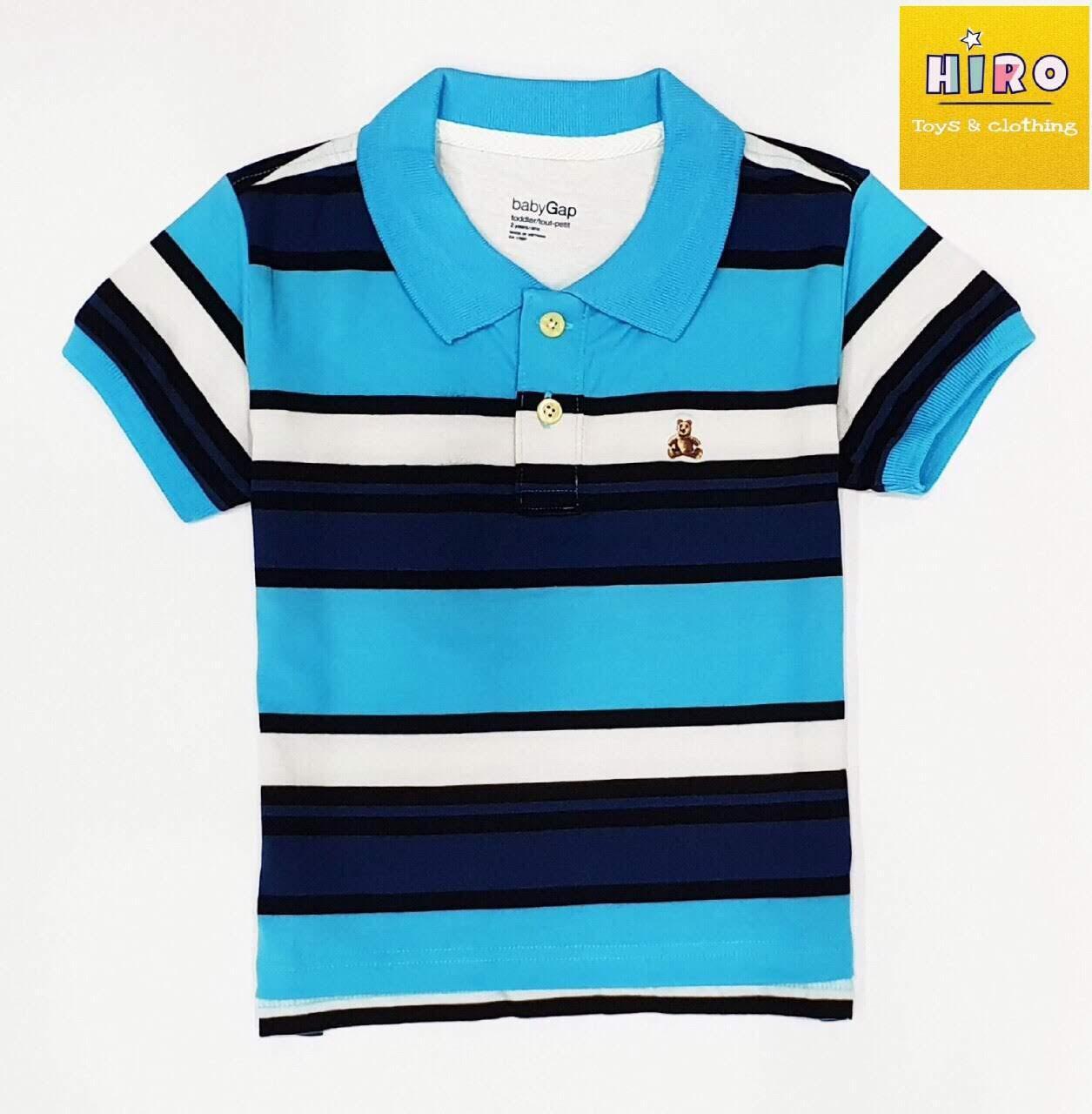Áo bé trai xuất khẩu 10 - 45 kg, áo polo bé trai Baby Gap, áo thun có cổ cho bé, áo bé trai size đại, áo thun bé trai (nhiều màu) Nhật Bản