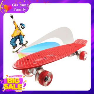 Ván trượt nhựa thể thao cao cấp Skateboard có đèn Led trục kim loại (Kích Thước 56x10x13cm) thumbnail