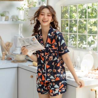 Bộ đồ mặc nhà pijama họa tiết hàng thiết kế thương hiệu VIBES Pattern Py Set thumbnail