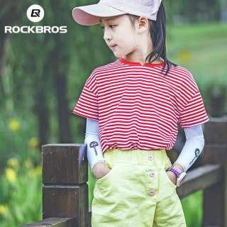 ROCKBROS Children Ice Silk Arm Sleeves Sunscreen Summer Anti-UV Sun Protection Arm Warmers Running Boy Girl Travel Arm Sleeves