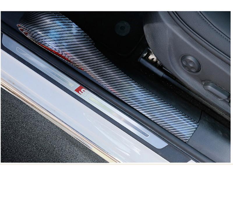 Cuộn Nẹp Cacbon Trang Trí Chống Xước Cho Ô Tô (bản 3cm) - Cuộn 5 mét Nẹp dán chống xước ở bậc cửa lên xuống giúp chống trầy xước khi chân dẫm hoặc cọ sát vào xe