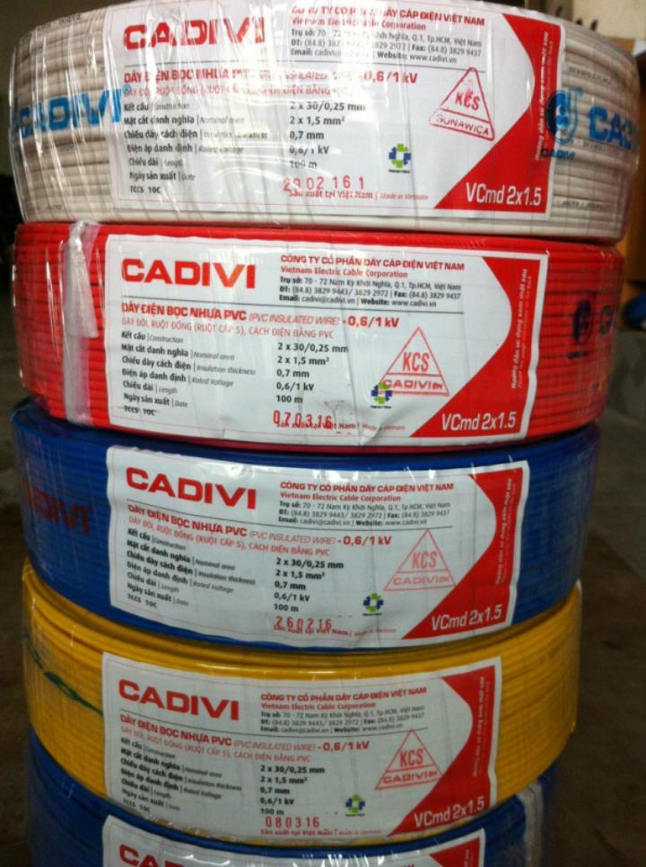 Dây cáp điện Cadivi CV 5.0 mm2