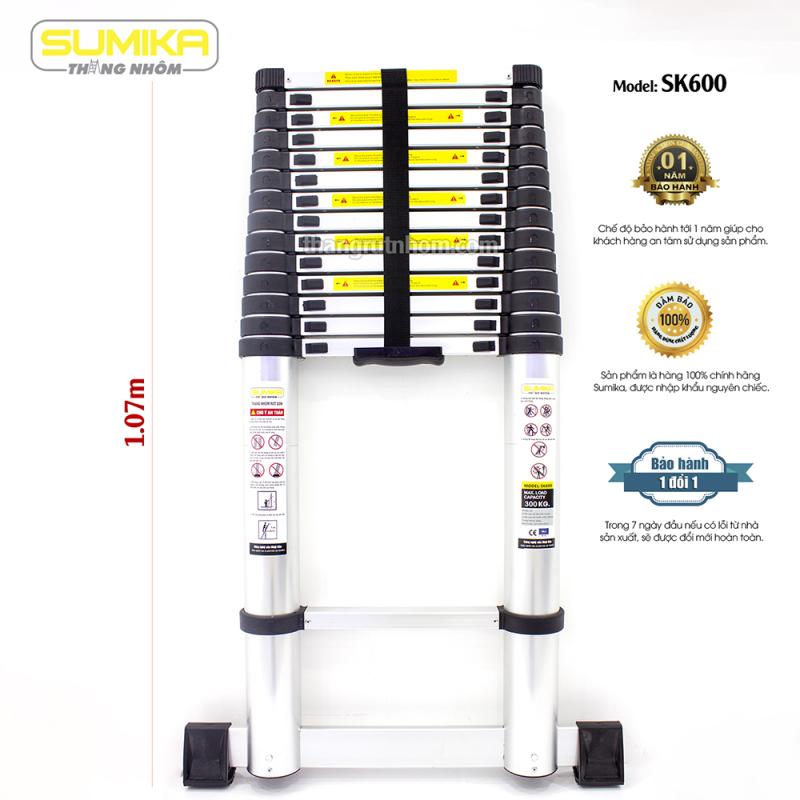 Thang nhôm rút đơn Sumika SK600 - CHIỀU CAO TỐI ĐA 6,0M
