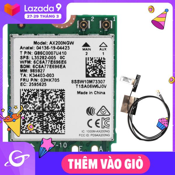 Bảng giá Thẻ Wifi M.2 Có Ăng Ten Kép Phụ Kiện Máy Tính AX200NGW 802. Ăng Ten Trong 11ax NGFF Bluetooth 5.1 2 Phong Vũ