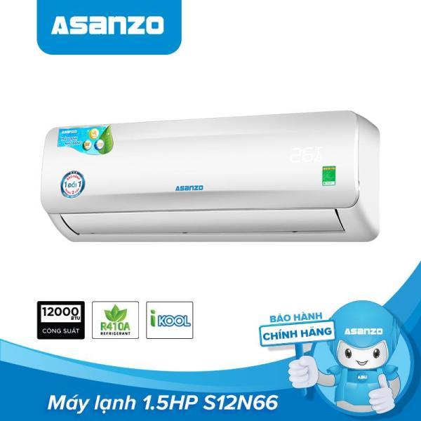 Bảng giá Máy Lạnh Asanzo S12N66 1,5HP (Vỏ Dàn Nóng Chống Gỉ, Khử Độc Không Khí, Công Nghệ Tiết Kiệm Điện ECO, Màn Hình LED) - Hàng Phân Phối Chính Hãng Bảo Hành 2 Năm Điện máy Pico