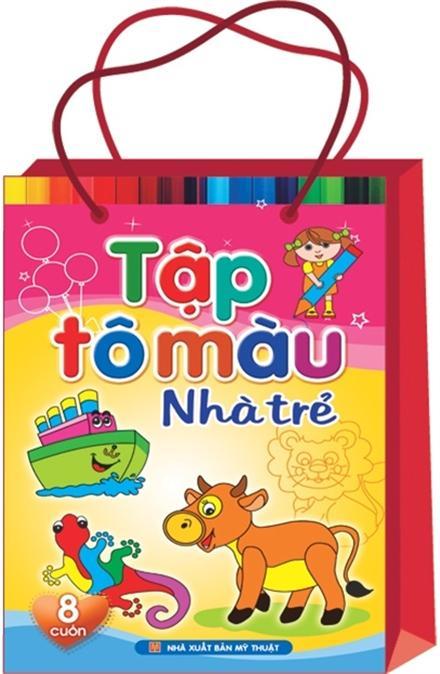 Mua Combo Sách: Tập Tô Màu Nhà Trẻ ( Túi 8 Cuốn)