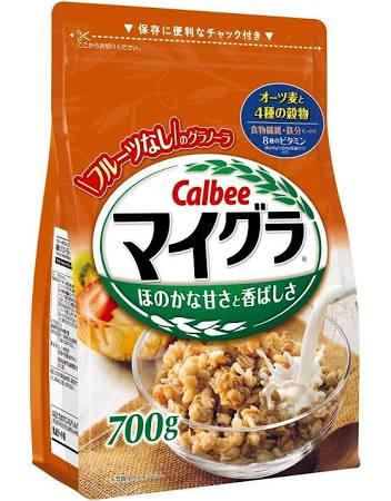 Deal Giảm Giá Ngũ Cốc Calbee Nhật Bản 700g Màu Cam Lúa Mạch ,Yến Mạch ,Bắp ...Date T11.2020