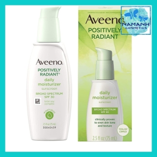 Kem dưỡng ẩm làm trắng da Aveeno Positively Radiant Daily Facial Moisturizer with Total Soy Complex and Broad Spectrum SPF 30 Sunscreen thumbnail