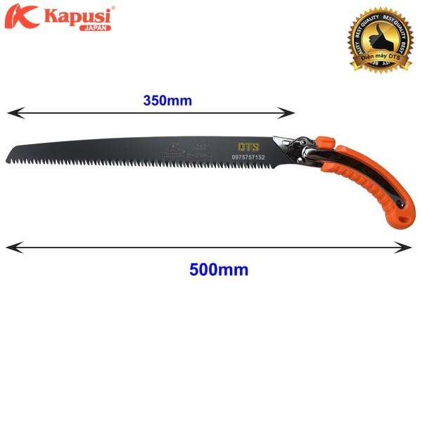 Bộ cưa gỗ cầm tay thép đen và Kéo cắt cành Nhật Kapusi Japan lưỡi thép SK-5 siêu bền - siêu sắc