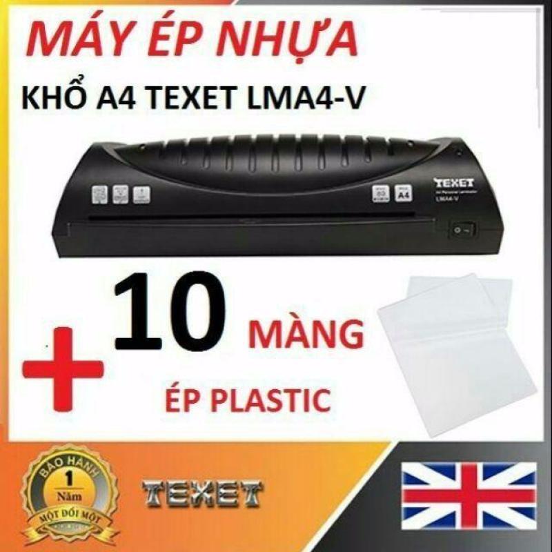 Máy ép Nhựa Plastic Texet LMA4 - V Khổ A4 - Tặng Kèm Màng Ép Nhựa Plastic