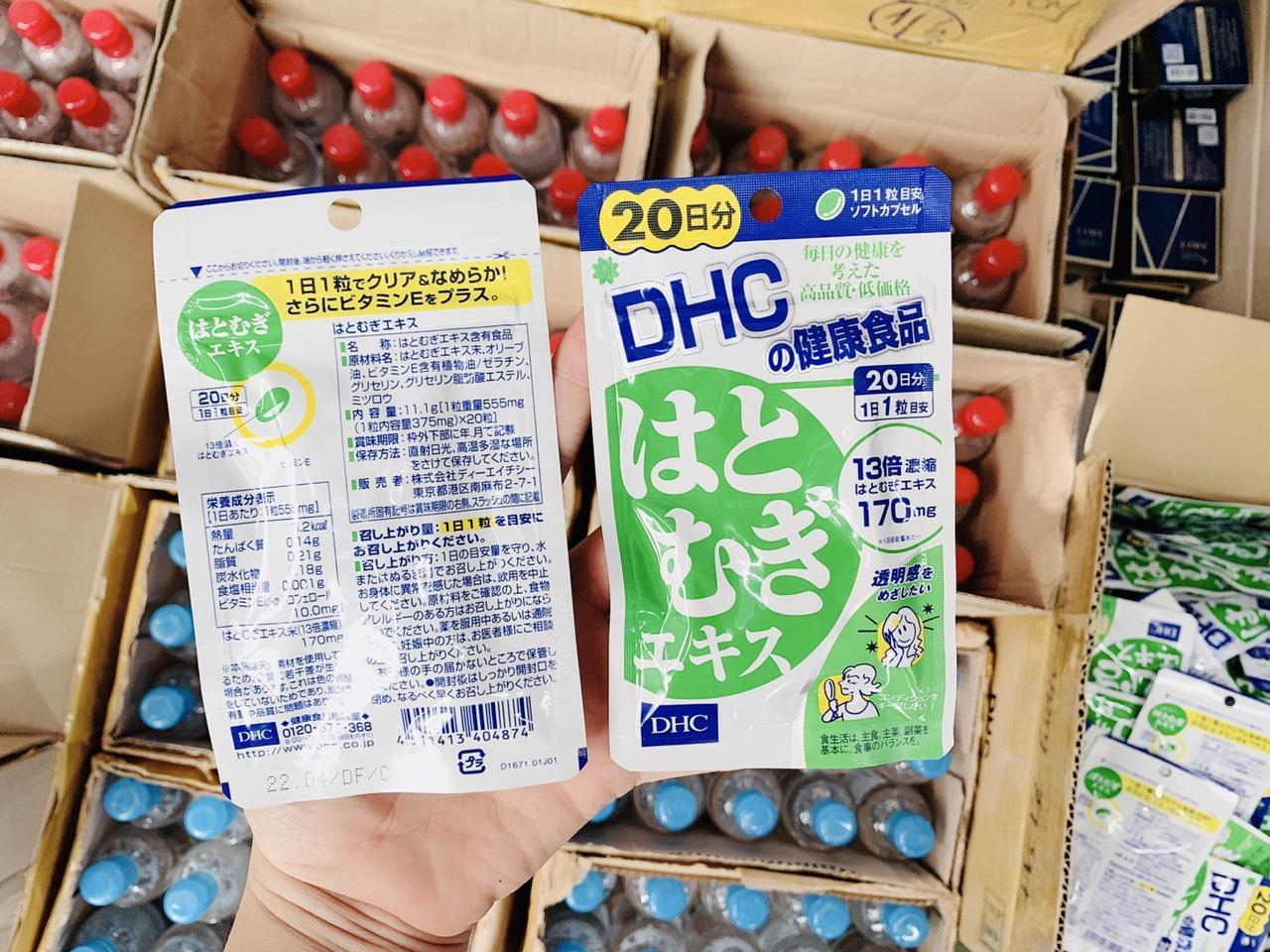 Viên uống dưỡng trắng da DHC 20 ngày