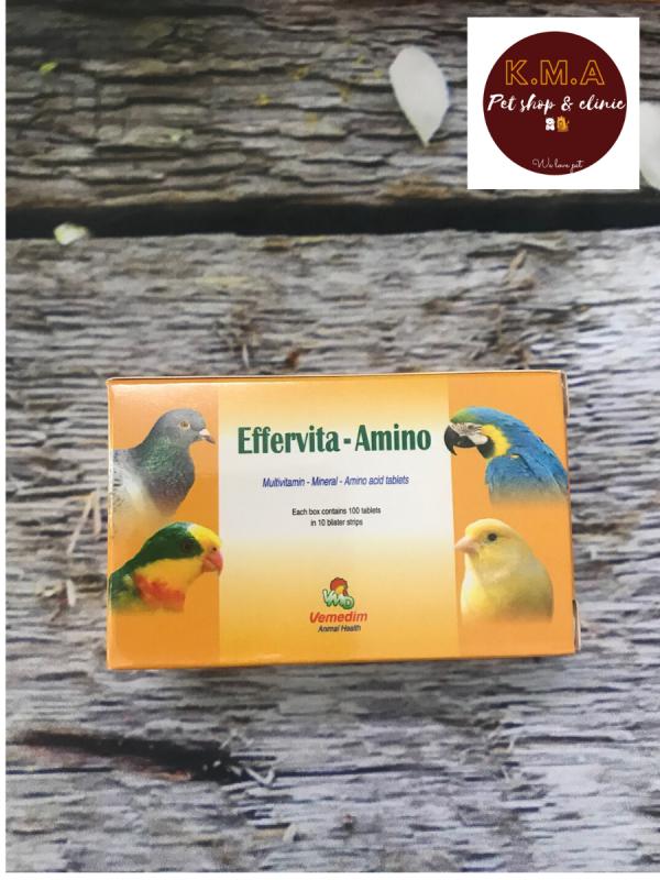 Effervita amino - cung cấp vitamin, khoáng chất, acid amin thiết yếu cho chim cảnh, gà đá - Công ty Vemedim