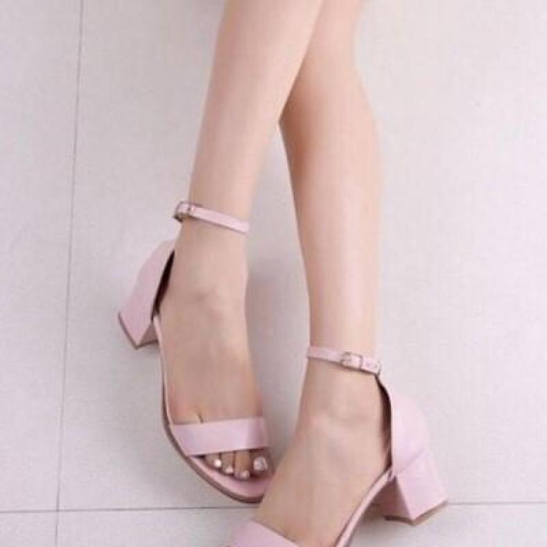 giày sandal quai ngang 5p Rosa-CG-0012 giá rẻ