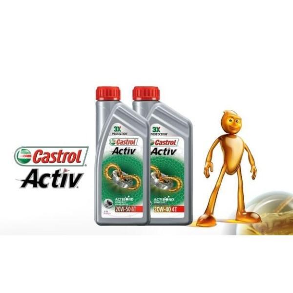 DẦU NHỚT XE SỐ CASTROL ACTIV - 20W40 1000ML(1L) Nhớt Castrol Activ 4T CHÍNH HÃNG Bảo Vệ Liên Tục 3 Giai Đoạn