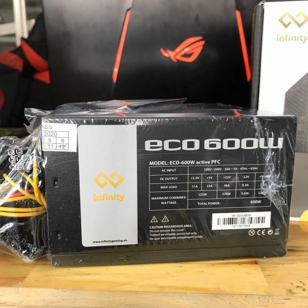 Giá Nguồn Infinity ECO 600W 80Plus Single Rail – True Power