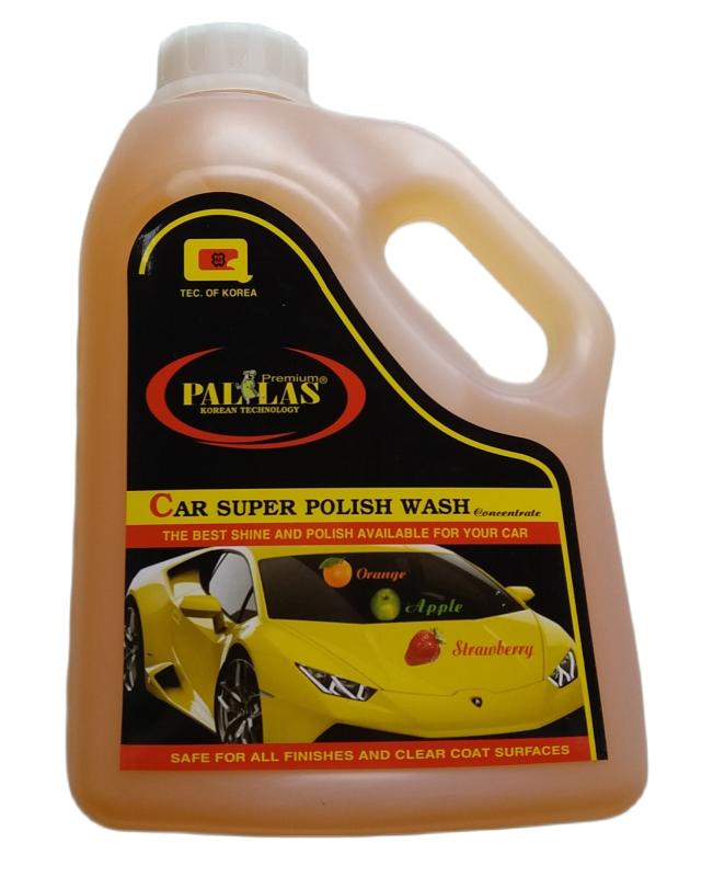 Nước rửa xe siêu bóng PALLAS đậm đặc (1,5L), 3 màu Cam - Dâu - Táo, Hàng Cty, bảo dưỡng mặt sơn luôn sáng bóng như mới