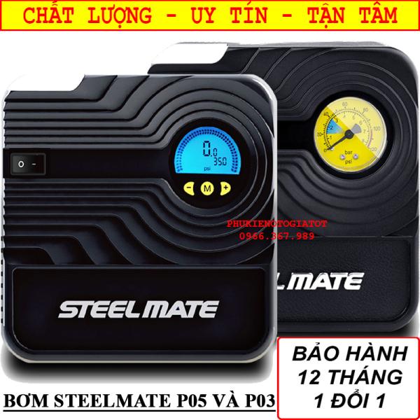Bơm lốp ô tô STEELMATE P05, P03 CHÍNH HÃNG, BH 12 THÁNG