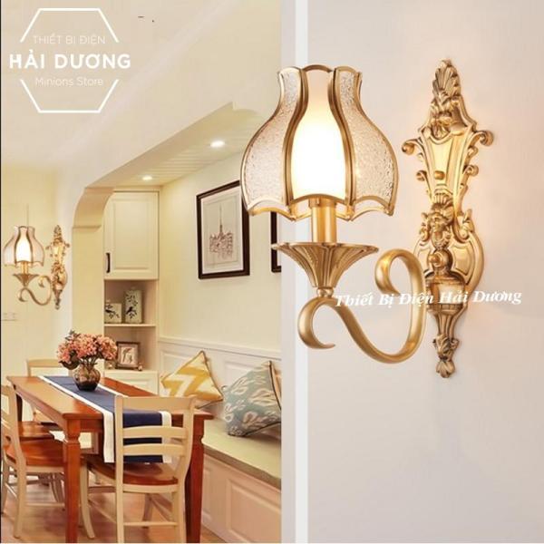 Đèn Gắn Tường Cao Cấp Đồng Nguyên Chất Trang Trí Cổ Điển - B0821 - Đã bao gồm bóng. Cam kết giá tốt trên thị trường.