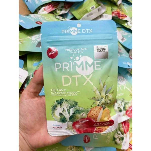 Viên uống giảm cân khữ mỡ rau xanh trái cây cho cơ địa khó - Detox Primme Thái Lan chính hãng
