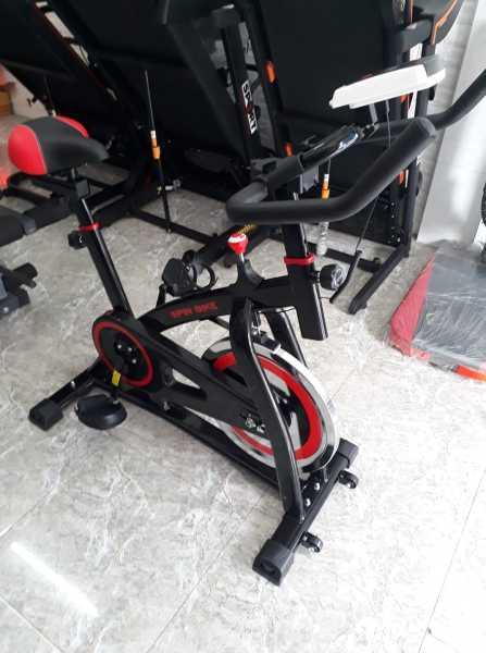 Xe đạp tập thể dục tại nhà, Xe đạp thể thao, chất liệu hợp kim thep chắc chắn, bánh đà 12kg, chuyển động bằng dây curoa êm ái
