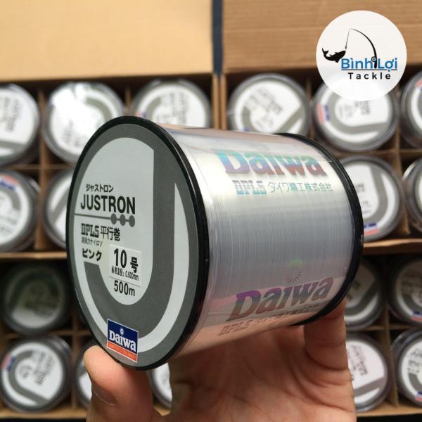 Cước Câu Cá DAIWA JUSTRON chiều dài 500m chất liệu cacbon siêu cao cấp - Giao màu theo yêu cầu