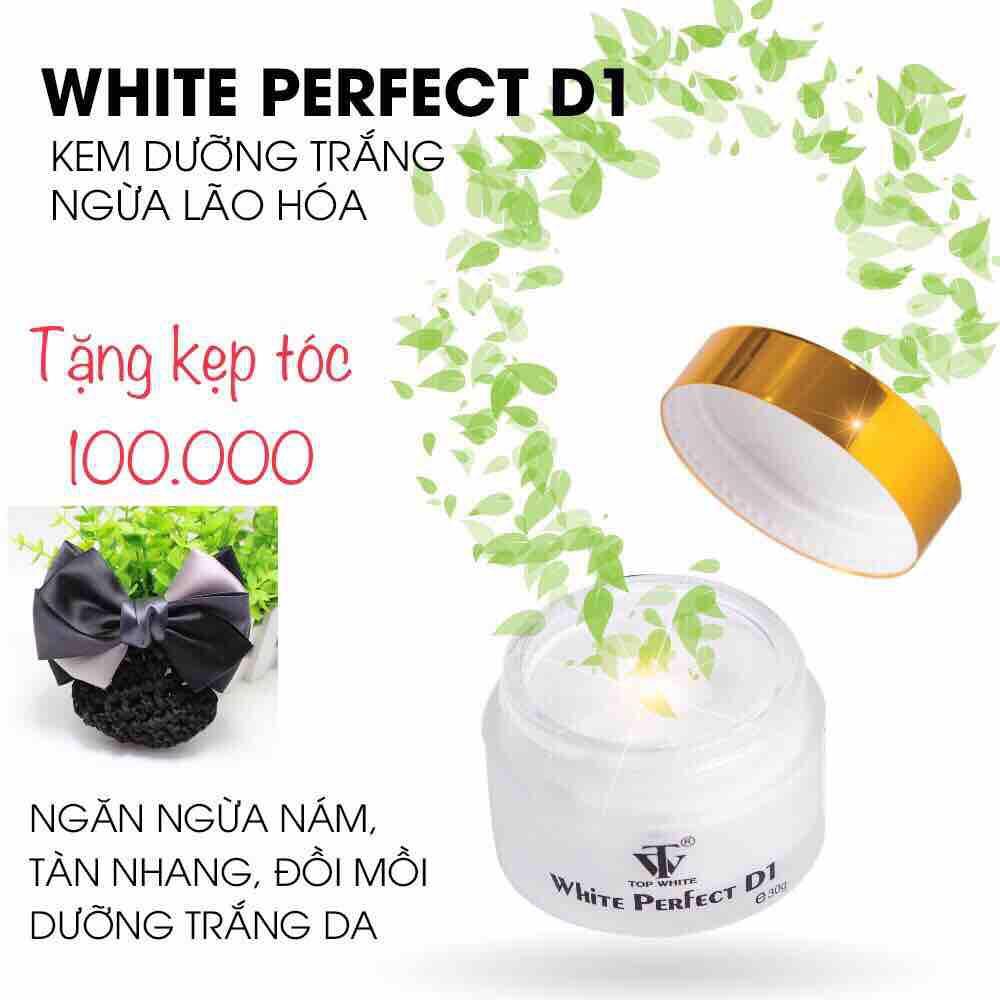 WHITE PERFECT D1 KEM DƯỠNG TRẮNG DA, NGỪA NÁM, TÀN NHANG, ĐỒI MỒI