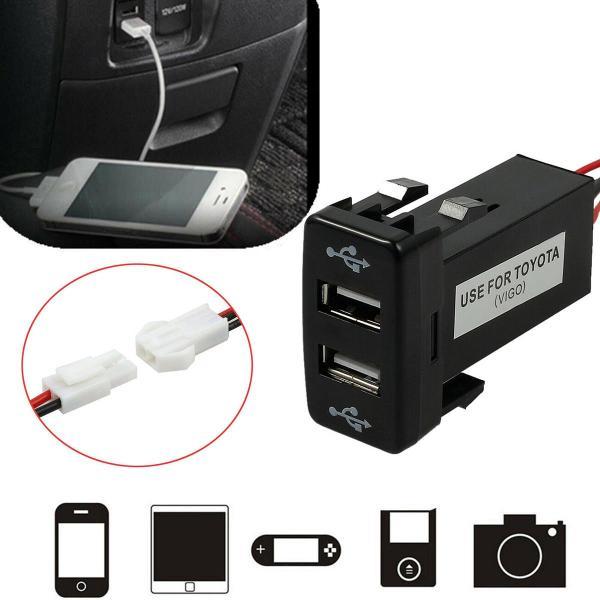 Bộ sạc nhanh USB kép gắn cổng chờ theo xe Toyota