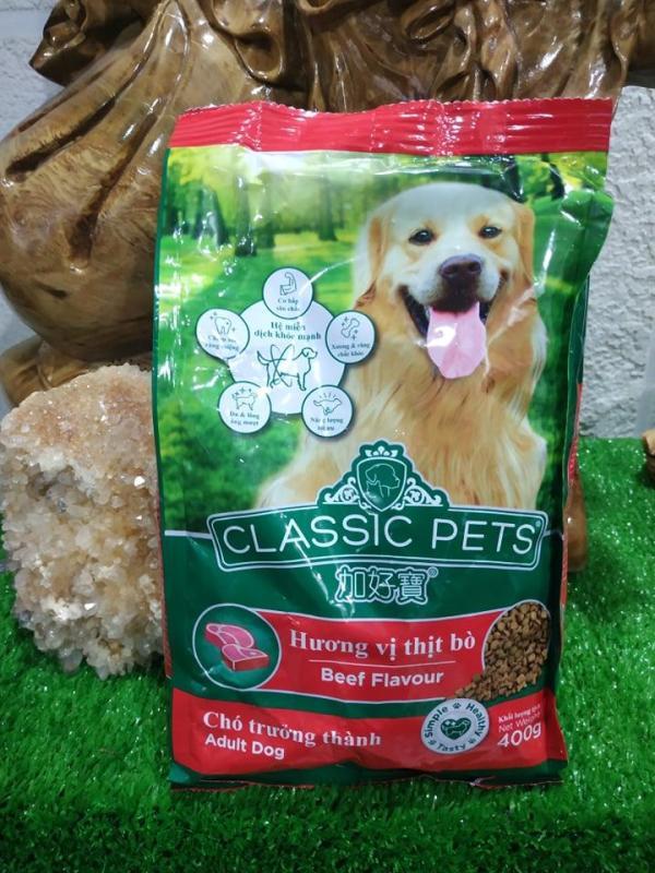 Classic Pets hạt cho chó trưởng thành vị thịt bò 400gr