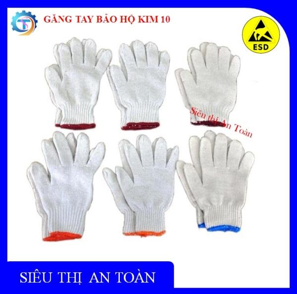 Combo 30 đôi - Găng tay len bảo hộ kim 10, găng tay bảo hộ lao động