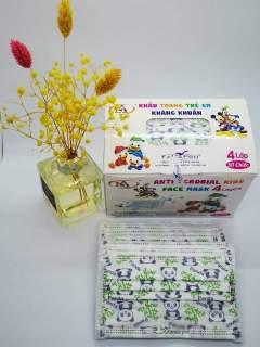 Hộp 50 Cái Khẩu trang em bé NAM ANH -HÌNH GẤU PANDA thumbnail