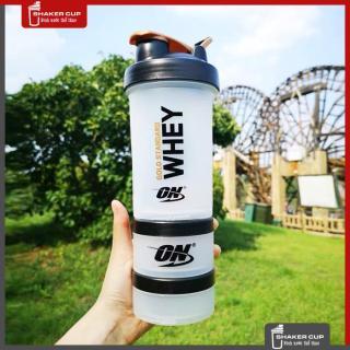 Bình lắc tập gym thê thao Shake bottle ON Gold Standard 3 ngăn thumbnail