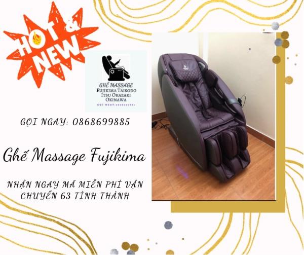 [ HOT 2021 ] Ghế massage liên động tự động massage toàn thân thời thượng quý phái trị liệu Nhật Bản FUJIKIMA FJ-G579