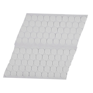 50 Pairs Magic Sticky Self Adhesive Buckle Hook Loop Round Pads Craft Tape White thumbnail