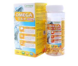 Viên dầu cá Omega 3 6 9 Germany Pharma Bổ não, sáng mắt, khỏe mạnh tim mạch - Hộp 100 viên thumbnail