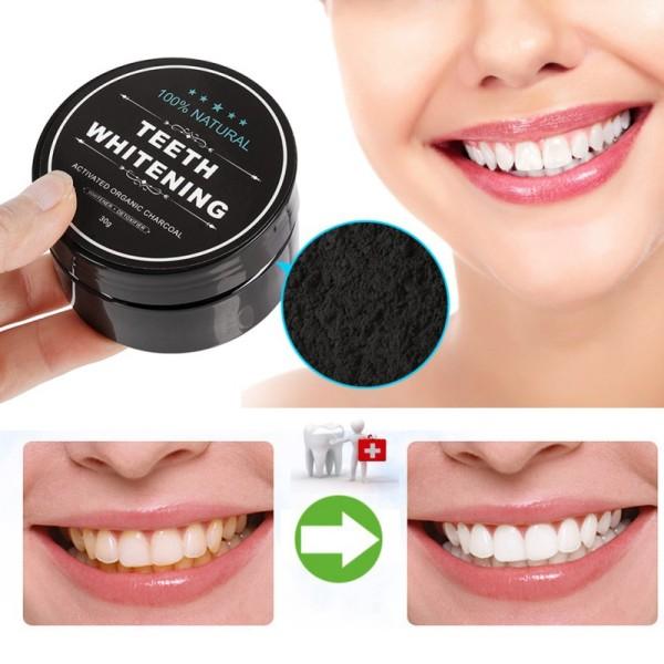 [K] [LÀM TRẮNG - KHỬ MÙI] Bột tẩy trắng răng than tre hoạt tính 30gr – bột khử mùi hôi răng miệng hiệu quả cấp tốc – hiệu quả cấp tốc sau 3 ngày sử dụng - chất làm trắng răng bảo vệ men răng giá rẻ