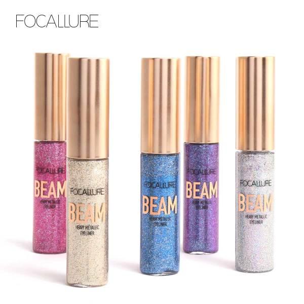 Bút kẻ mắt FOCALLURE dạng lỏng ánh nhũ không thấm nước bền màu lâu trôi với 5 màu tùy chọn trong lượng 8G - INTL giá rẻ