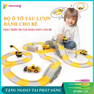 Đồ chơi trẻ em, Bộ đồ chơi lắp ghép đường ray Ô tô và Tàu hoả gồm nhiều chi tiết hỗ trợ phát triển trí tuệ cho bé thumbnail