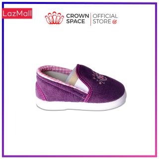 Giày Vải Tập Đi 3 Màu Tím, Hồng, Đỏ Bé Trai Bé Gái Đẹp Crown UK Royale Baby Walking Shoes Trẻ em Cao Cấp 032821 Nhẹ Êm Size 3-6/1-3 Tuổi