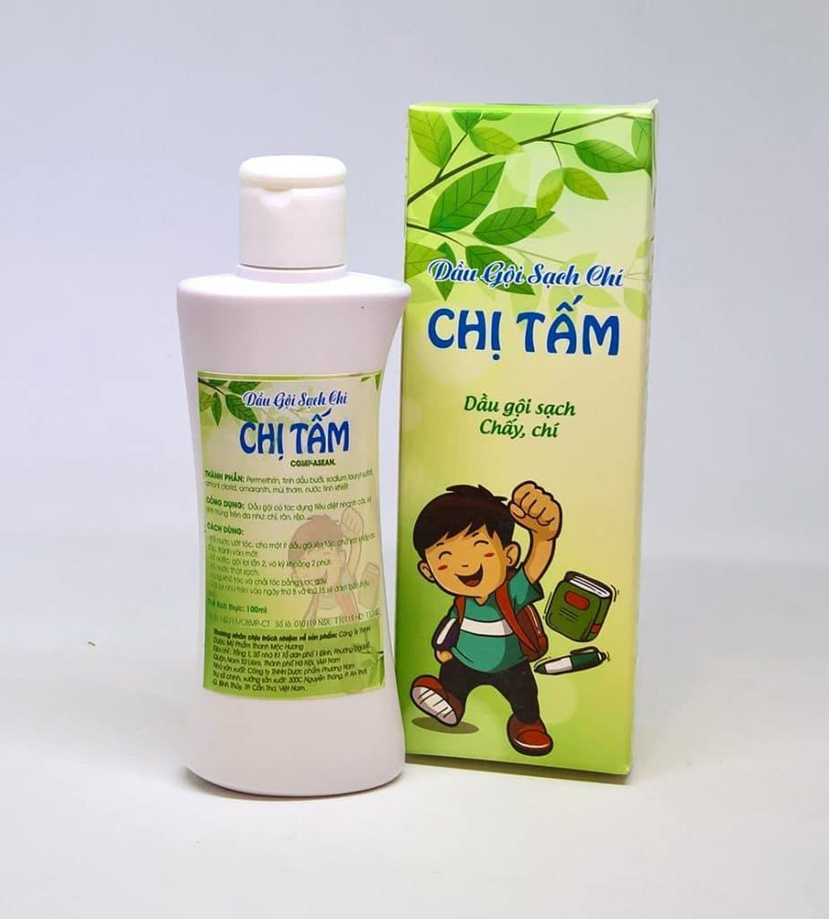 Dầu gội trị chí, chấy, rệp, nấm, gàu... Chị Tấm TMH dùng cho cả trẻ em 100ml