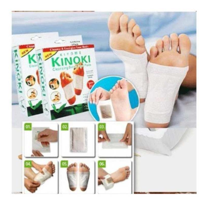 Bộ 5 Hộp Miếng dán chân giải độc Kinoki chăm sóc sức khỏe bàn chân, tiện lợi, nhanh chóng (50 miếng/5 hộp) cao cấp