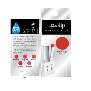 [Mẫu Dùng Thử] Son Trang Điểm Dưỡng Tối Ưu LipOnLip Water Color màu Cam Đào (0.5g) thumbnail