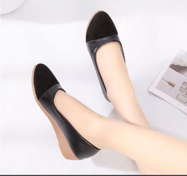 [OD7] Giày búp bê nữ đế 3p mũi tròn phối da xinh xắn hàng QC cao cấp - Kèm hình thật giá rẻ