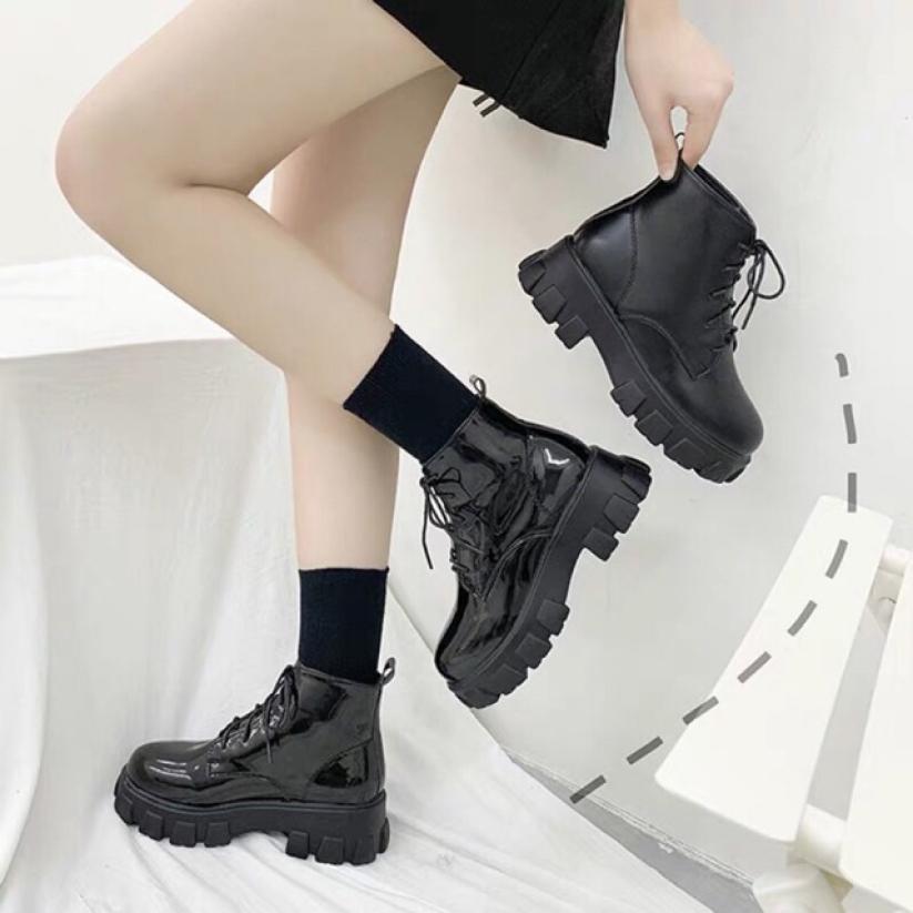 Giày bốt cổ lửng phong cách Hàn Quốc giá rẻ