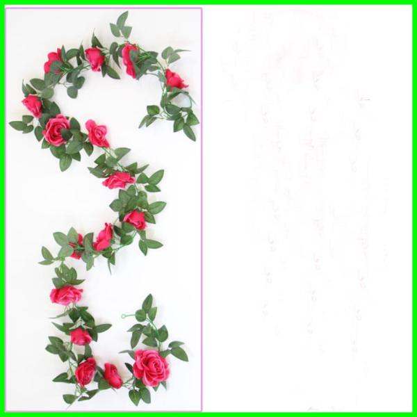 [TỔNG XẢ KHO] Hoa Giả Dây Leo Monisa Gift - Hoa Hồng Leo Dài ĐẸP TINH XẢO Trang Trí Sân Vườn Thông Minh