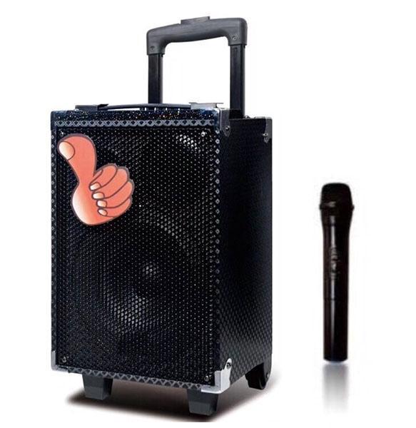 Loa kéo di động bluetooth Karaoke Q8 KIOMIC - Tặng Micro không dây, hát siêu hay âm thanh cực đỉnh