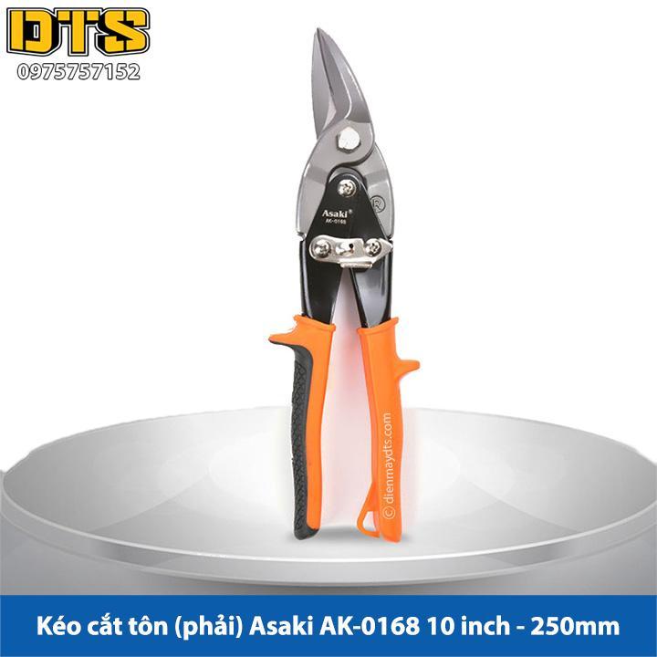 Kéo cắt tôn (tole) mũi cong phải Asaki 10inch/250mm