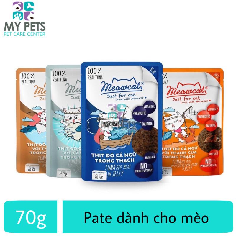 Thức ăn ướt pate / xốt Meowcat dành cho mèo  - Gói 70g