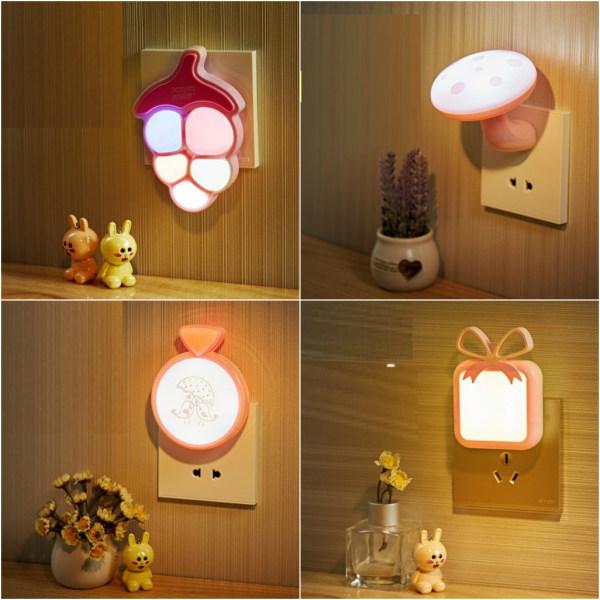 Đèn ngủ cảm ứng tự động bật, tắt, đèn ngủ cắm tường cảm ứng ánh sáng