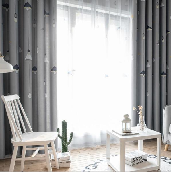 [HCM]Rèm vải treo cửa ĐÈN CHÙM TREO 2.7M CAO chống nắng tốt 99% rèm cửa trang trí (có sẵn khoen)