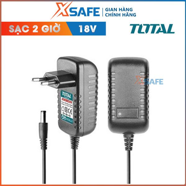 Sạc pin 18V TOTAL TOCLI228180. Sạc pin Total thời gian sạc trong 2 giờ, phù hợp để sử dụng cho máy khoan TDLI228180 và TIDLI228180 -Phân phối chính hãng XSAFE